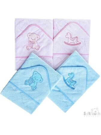 Hooded Bath Robe – Baby Blue Teddy