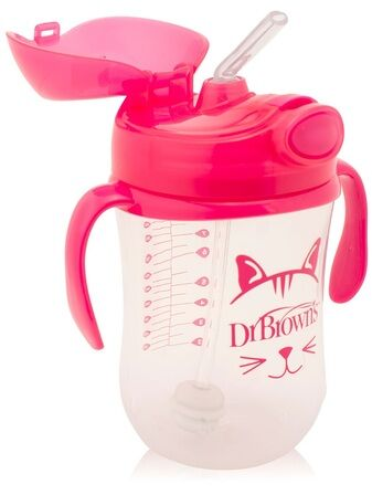 Dr Brown's Babys First Straw Transition Cup Pink