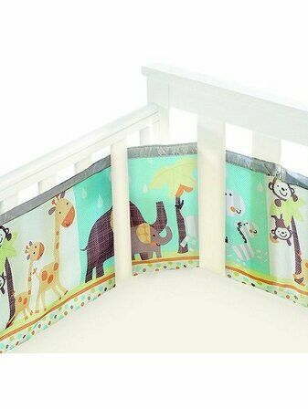 Breathable Baby Cot Mesh Liner Animal 2 by 2