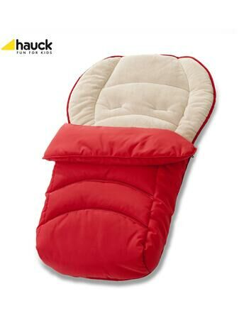 Hauck 2 Way Reversible Fleeced Cosytoe Footmuff - Red