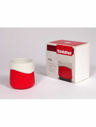 ToddlerTäble Non Slip Baby Cup - Red