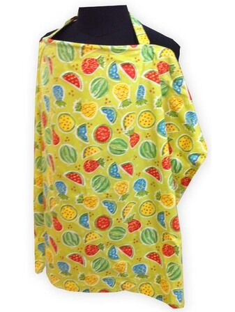 Palm & Pond Breastfeeding Cover - Green Fruit Design