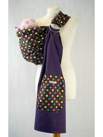 Palm and Pond Chocolate Multi Spots Ring Sling