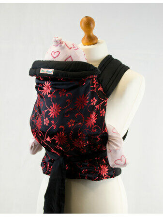 Mei Tai Baby Sling - Oriental Red Floral