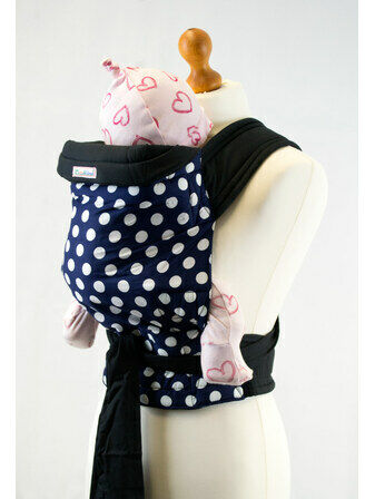 Palm & Pond Baby Mei Tai Baby Sling - Blue with White Spots Pattern