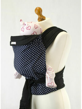 Palm & Pond Mei Tai Baby Sling - Blue Polka Dot