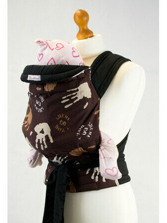 Hand Print Pattern Soft & Strong Mei Tai Baby Sling
