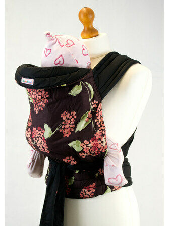 Palm & Pond Mei Tai Baby Sling - Pink/Mauve Floral