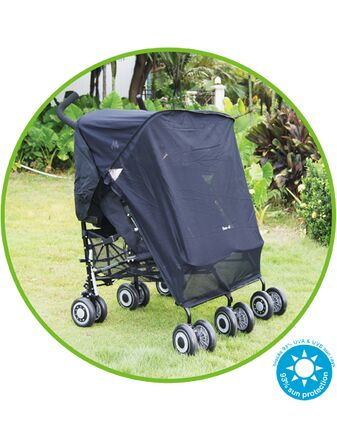 Koo-Di Sun & Sleep Double Stroller Cover - Black