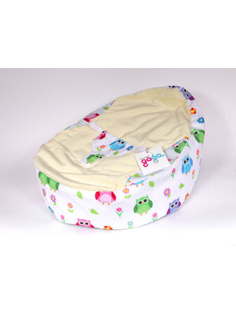 GaGa Pre-Filled Baby Bean Bag With Luxury Cuddlesoft Seat - Hoot Owls Design