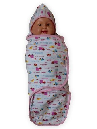 Swaddle Wrap - Pink Truck