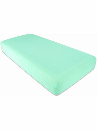 Purflo Fitted Organic Cotton Cot Sheet 120x60 - Variety of Colours