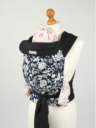 Palm & Pond Mei Tai Baby Sling – Blue & White Floral