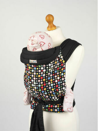 Bright Multi Coloured Spots Mei Tai Soft Baby Sling