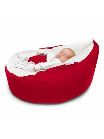 GaGa Cuddlesoft Red Pre-filled Baby Bean Bag with Adjustable Safety Harness