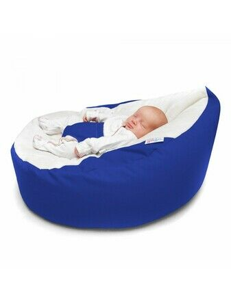 GaGa Bright Royal Blue Soft Baby Bean Bag With Adjustable Harness