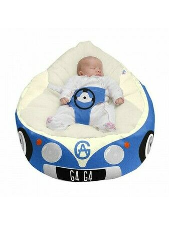 Gaga Cuddlesoft Iconic Campervan Baby Bean Bags - Choose your Colour