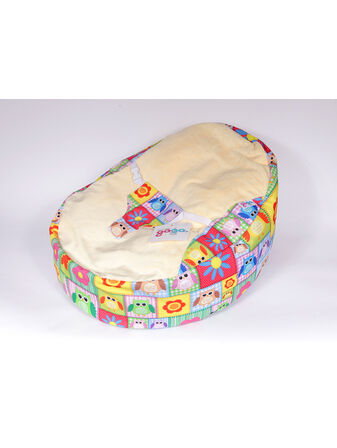 GaGa Pre-Filled Baby Bean Bag with Luxury Cuddlesoft Seat - Patchwork Owls
