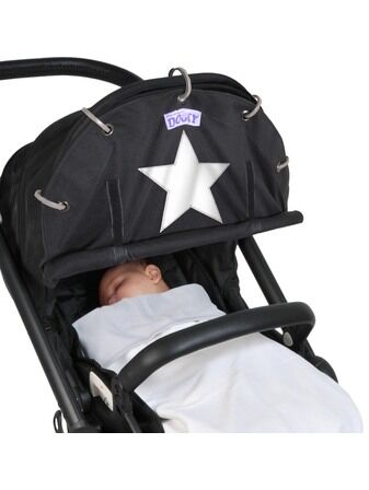 Winter Dooky Shade For Pushchair/Pram Black Reflective Star