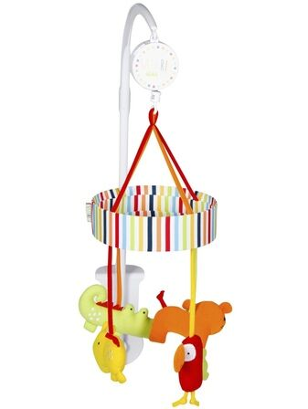 Red KIte Baby Cot Mobile - Safari Musical
