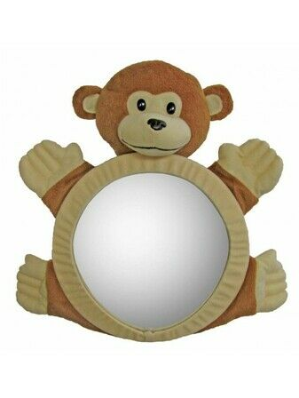 Bearview Rear Car Seat baby Mirror - Monkey