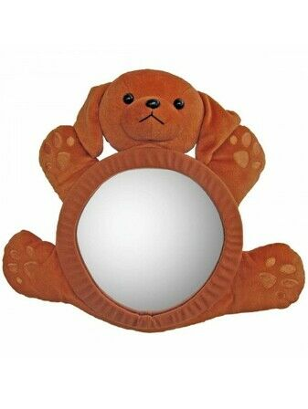 Bearview Rear Car Seat baby Mirror - Brown Puppy
