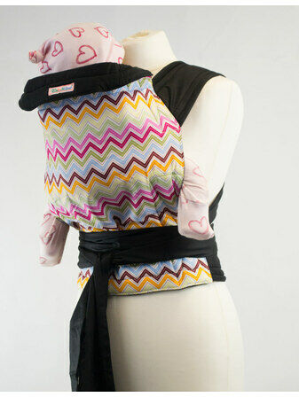 Palm & Pond Mei Tai Baby carrier - Pastel Zigzag