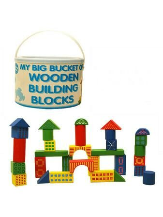 Beautiful Beginnings Bucket of Wooden Blocks