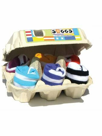 Xplorys Soggs, Box of 6 Socks - Stripes