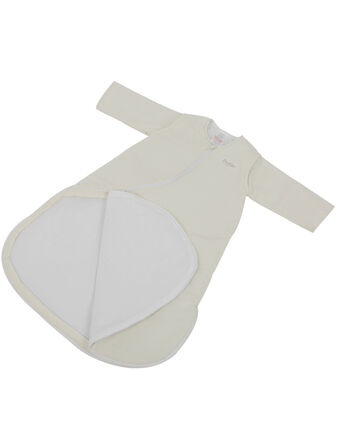 Purflo Plain Jersey Cotton Sleepsac 2.5 TOG Cream - Variety of Sizes