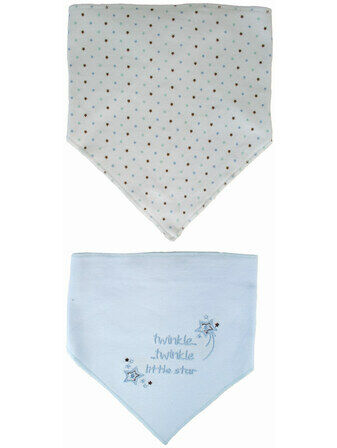 Bandana Bibs - Blue Twinkle Twinkle little star 2 pack