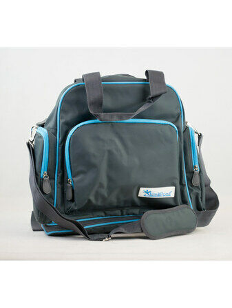 Palm and Pond Changing Back Pack Grey with Blue Trim