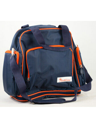 Palm and Pond Changing Back Pack Navy with Orange Trim