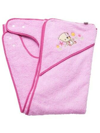 Clevamama Clevabear Apron Towel Pink