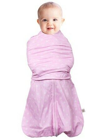 Clevamama Swaddle Bag 2 in 1 Pink 0-3 mths
