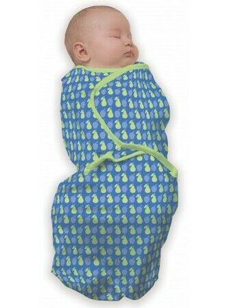 Baby Studio Swaddle Wrap - Blue Fruit