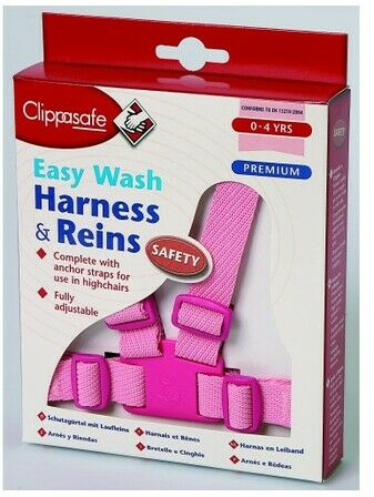 Clippasafe Easy Wash Harness & Reins - Pink