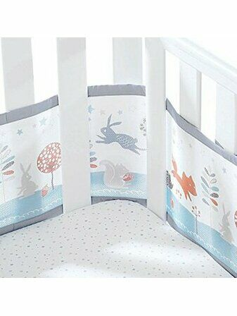 Breathable baby 2 sided mesh cot liner - Enchanted Forest