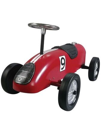 Retro Racer Sit n Ride Car - Red