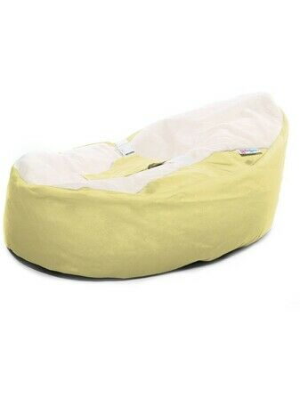 Gaga Cuddlesoft Pre-filled Baby Bean bag - Custard