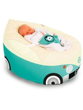 Gaga Cuddlesoft Pre-filled Baby Bean bag - Campervan Turquoise