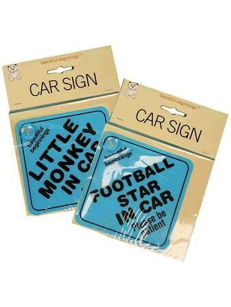 Assorted Boys Car Signs - 2 pk
