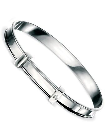 B775 Cross Diamond Bangle