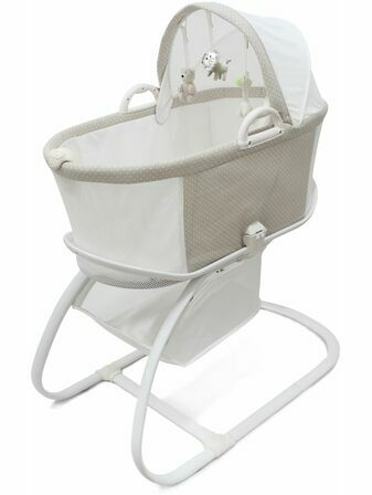 Purflo Breathable Baby Bassinette - Soft Truffle