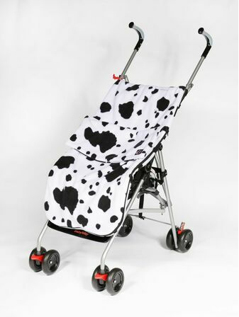 Genesis Printed Fleece Footmuff - Cow Print