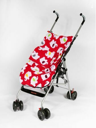 Genesis Printed Fleece Footmuff - Red Elephant
