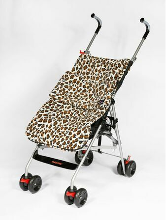 Genesis Printed Fleece Footmuff - Snow Leopard