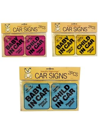 Beautiful Beginnings Baby/Child in Car Signs 2 Pack