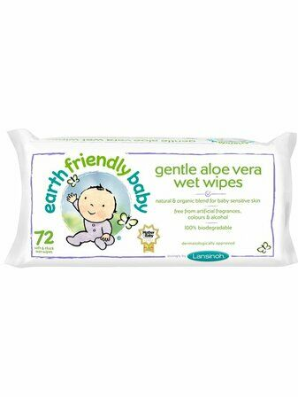 Earth Friendly Baby Gentle Aloe Vera Wet Wipes - 72 pack