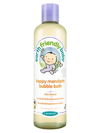 Earth Friendly Baby Bubble Bath 300ml - Happy mandarin